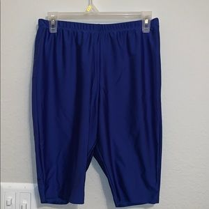 Pants - Blue biker shorts